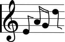 treble-staff-with-notes-clip-art p